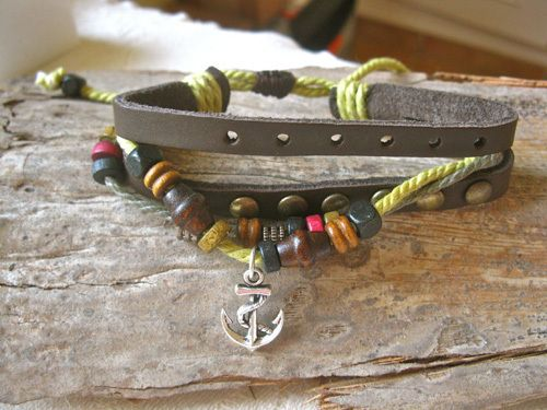 ANCHOR NaturalSoul bracelet ~  mulberry. A gift with soul to embrace life