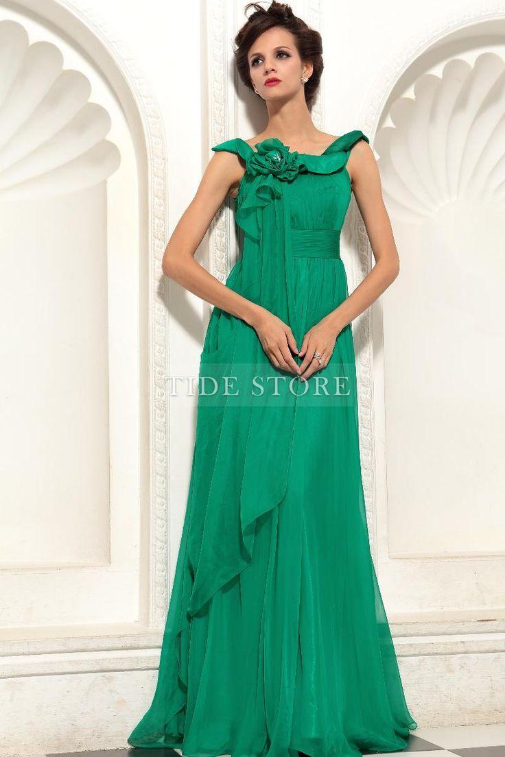 #Collar #Dresses #Dress Shinning Round Collar Floor-length Evening Prom Dress