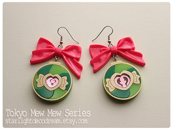 Tokyo Mew Mew Inspired Lettuce Lettustanets Acrylic Earrings for Mahou Kei, Magical Girl Fashion by Starlight Deco Dream