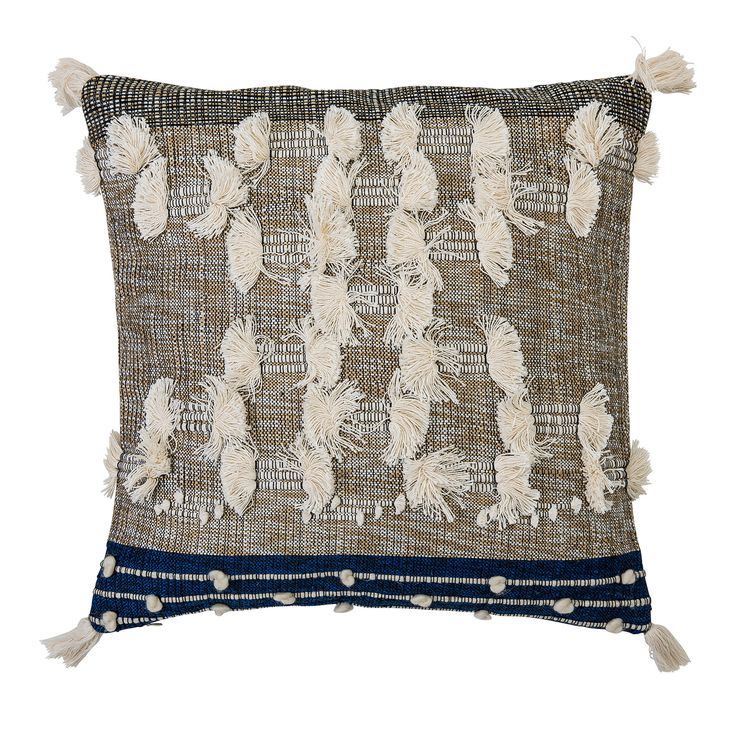 Fabric Synthetic Throw Pillow
