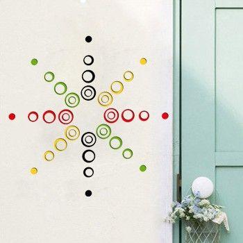 Акриловые кристалл-мерной наклейки наклейки стены стикеры стены спальни пятое поколение творческой гостиной телевизор стены фоне - Taobao
