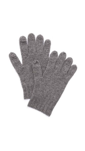 Cashmere texting gloves! There are little openings in the thumb and index finger that make it easier to text. Genius idea...