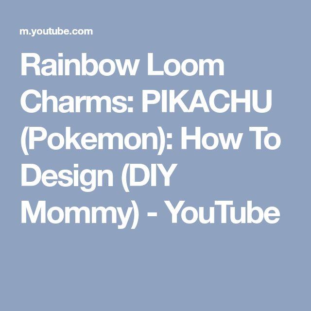 Rainbow Loom Charms: PIKACHU (Pokemon): How To Design (DIY Mommy) - YouTube