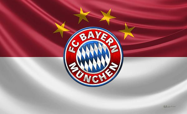 FC Bayern Munich - 3D Badge Over Flag fine art print by Serge Averbukh via FineArt America...
