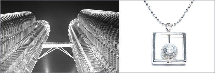 VERBINDUNG..... Kuala Lumpur, die Hauptstadt Malaysias, ist ein Schmelztiegel verschiedener Nationen. Malaien, Chinesen, Inder, Tamilen, Thais.......dies ist auch in der Architektur der Stadt spürbar. Allen gemeinsam ist jedoch die moderne Architektur, vor allem das Wahrzeichen von KL: Die Petronas Twin Towers. Gestaltet von César Pelli & Associates Architects ist die Komposition aus Stahl, Aluminium, Beton und Glas der Magnet der Stadt. Nicht zuletzt wegen der Skybridge, der Verbindung ....