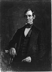 The first authenticated image of Abraham Lincoln was this daguerreotype of him as U.S. Congressman-elect in 1846, attributed to Nicholas H. Shepard of Springfield, Illinois