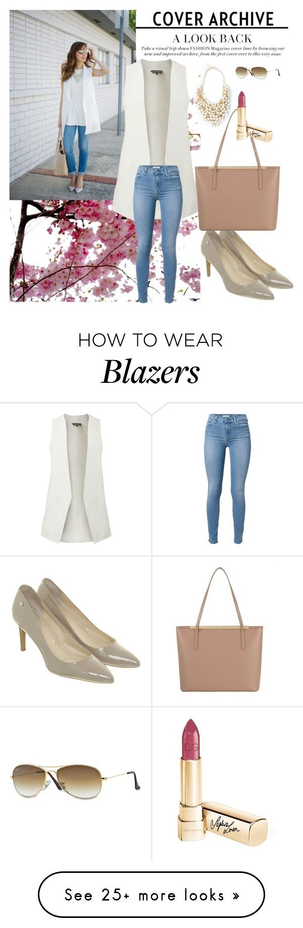 """""""Blazer Outfits"""" by janeng-167 on Polyvore featuring Calvin Klein, Ted Baker, Ray-Ban and Dolce&Gabbana"""