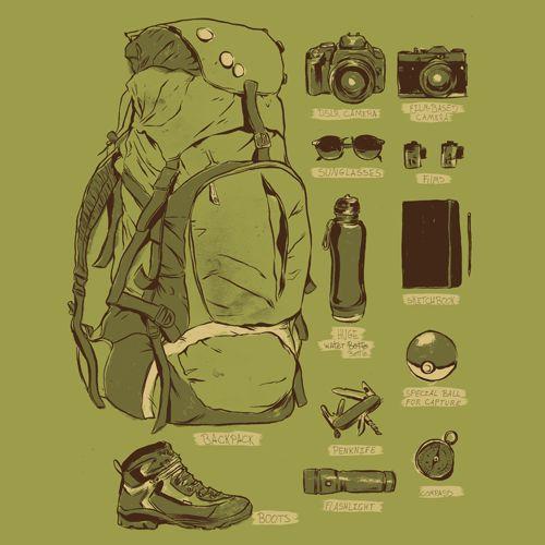 Camiseta 'The Explorer Kit' - Catalogo Camiseteria.com | Camisetas Camiseteria.com - Estampa, camiseta exclusiva. Faça a sua moda!