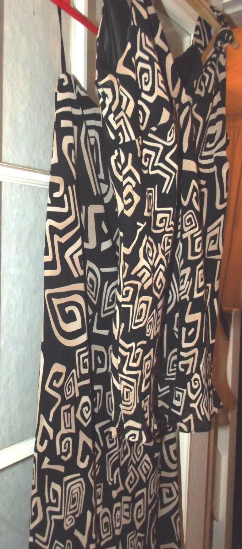 Vintage Womens Black & Beige wallis Petite Dress UK size 12 USA size 10 1980's by BunkysVintageCrafts on Etsy
