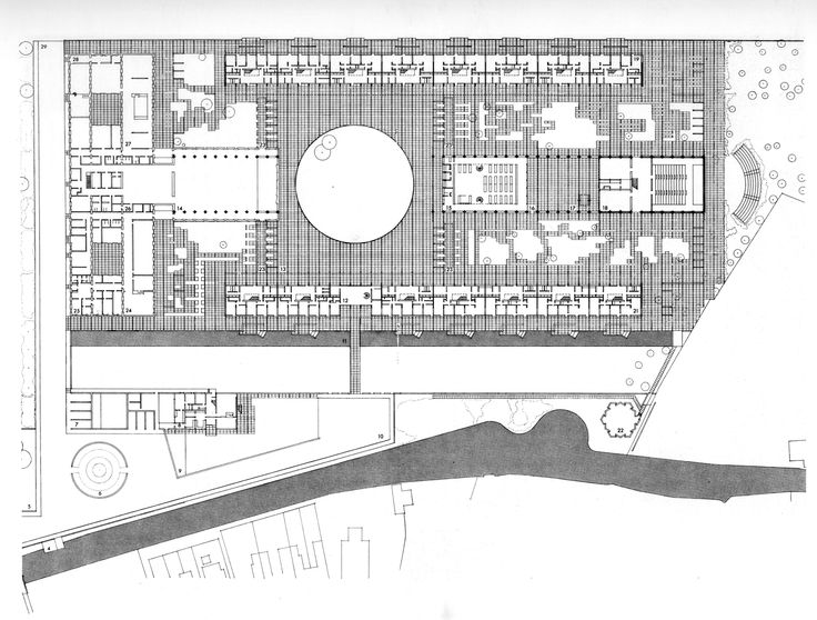 Site Plan : St Catherine's College, Oxford UK | Arne Jacobsen