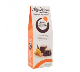 Lily O'Brien's Zesty Orange Chocolate Pouch, 105g