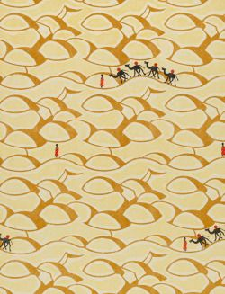 Sahara (1928) This evocative design of camels and human figures in a desert…