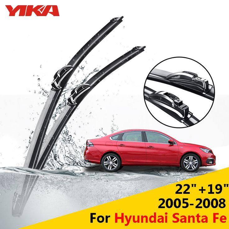 "YIKA 22""+19""For Hyundai Santa Fe (2005-2008) Car U-type Glass Rubber Windshield Wiper Blades Car-styling ISO9001"