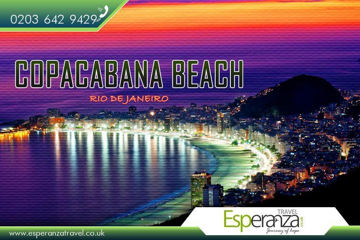 Copacabana Beach, Rio de Janeiro:  |    #Copacabana #beach, located at the #Atlantic #shore, #stretches from Posto Dois to Posto Seis. Leme is at Posto Um.  |    Source: https://en.wikipedia.org/wiki/Copacabana,_Rio_de_Janeiro#Copacabana_Beach  |    #CopacabanaBeach #RiodeJaneiro #Flights #Travel #EsperanzaTravel #FlightstoCopacabana #FlightstoRiodeJaneiro  |    #Cheap Flights to Rio de Janeiro: http://www.esperanzatravel.co.uk/flights-to-rio-de-janeiro.php