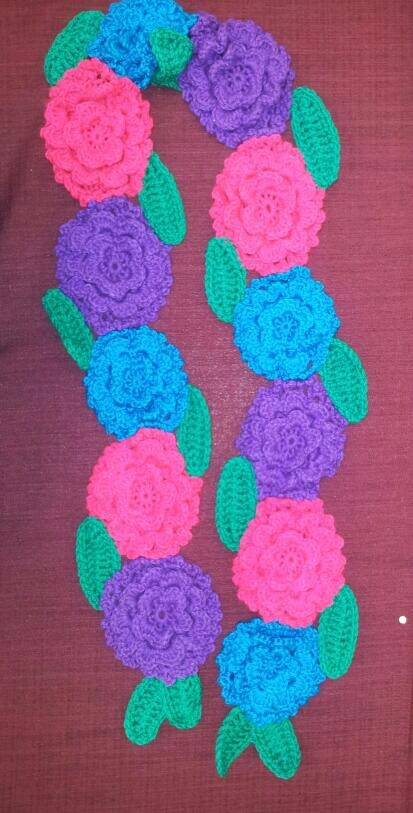 Another flower scarf