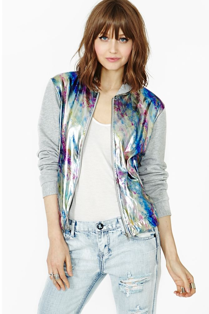 Oil Slick Bomber Jacket in What's New at Nasty Gal ...