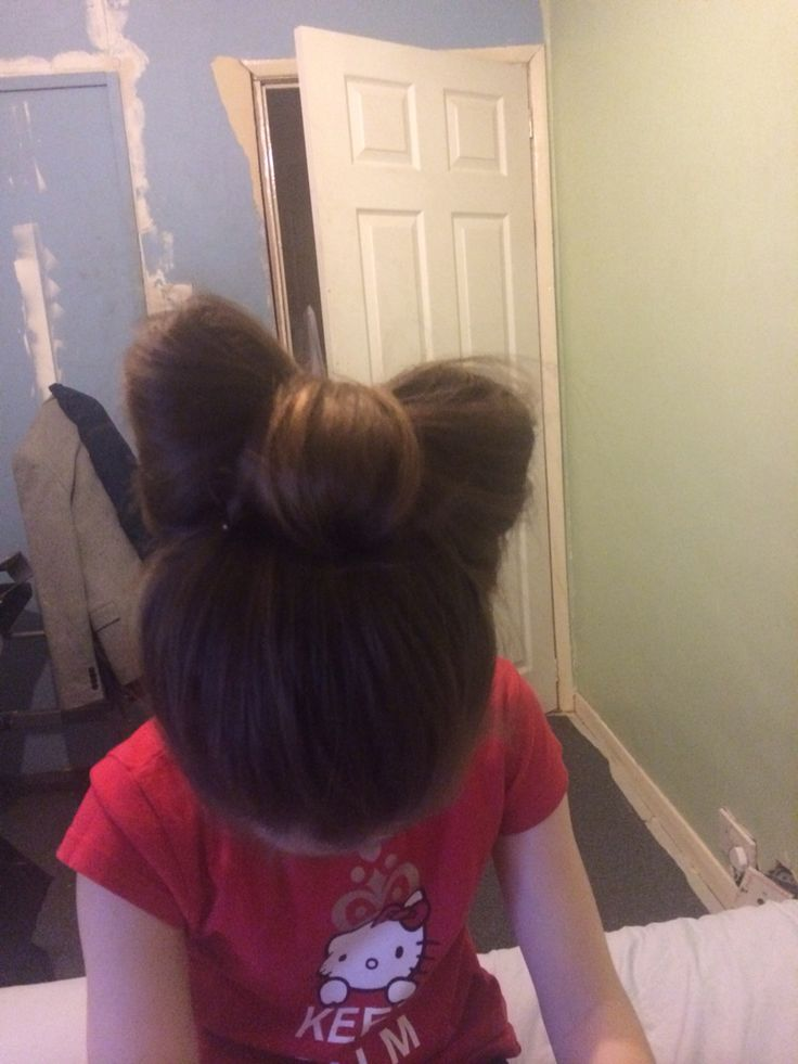 "a practise hair up ""BOW"" i did at home"