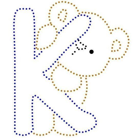 K | Beren Alfabet | glittermotifs