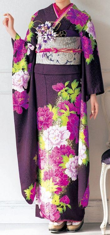 Japanese furisode (kimono)