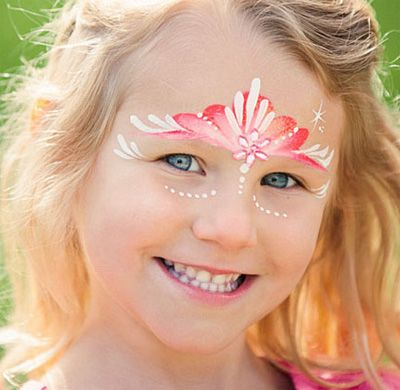 Trucco del viso per Carnevale per bambini da principessa n.5