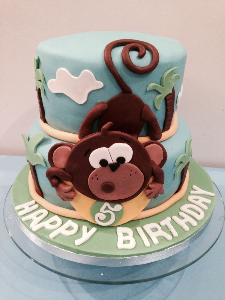 Monkey cake boy