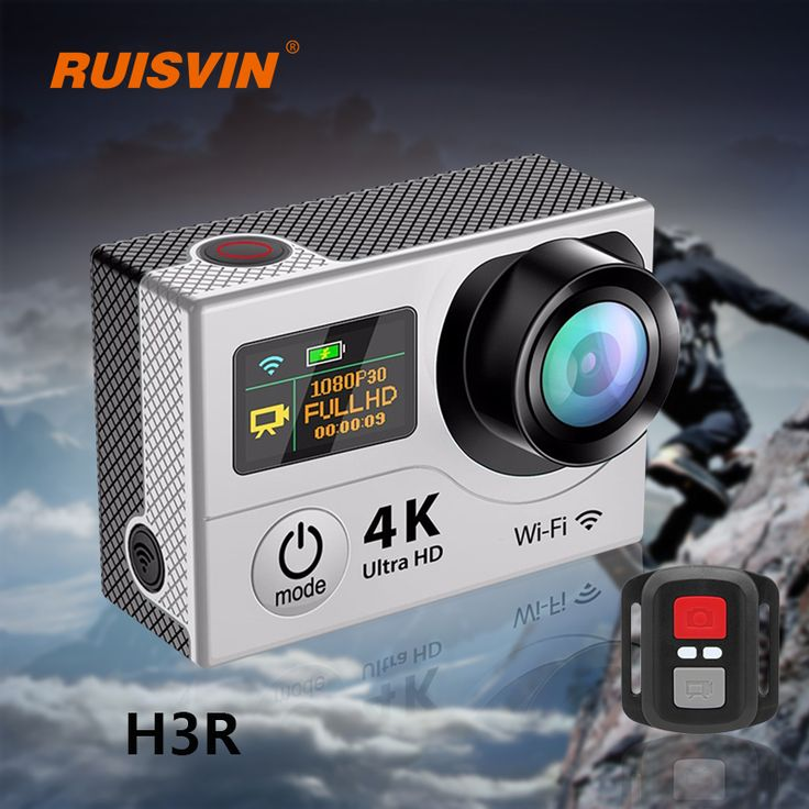 H3R Remote Action Camera Fulll HD 1080P Sports DV Camera 4K WiFi 2.0 Dual Screen Helmet Cam Gopro hero 4 Style Waterproof Camera  Price: 88.79 & FREE Shipping  #sale #discount #shop #2018