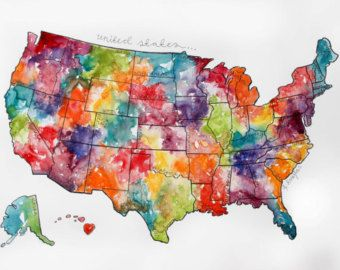 Unique United States Picture Map Ideas On Pinterest Map Of - Watercolor us map