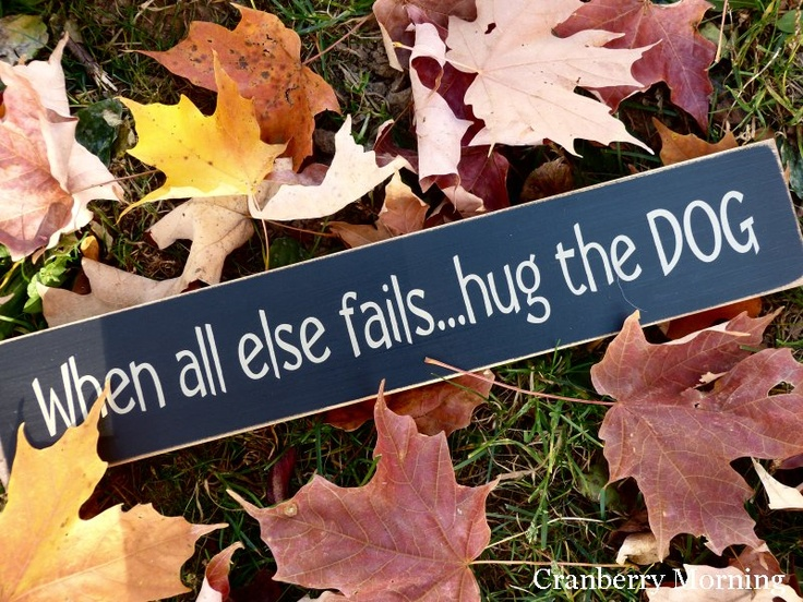 Hug the DOG Sign
