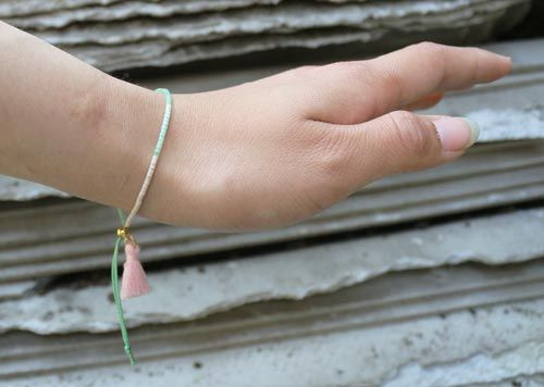 Delica armbånd med kvast