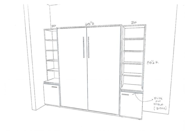 9 best Wall bed Plans images on Pinterest | Diy murphy bed, Murphy ...