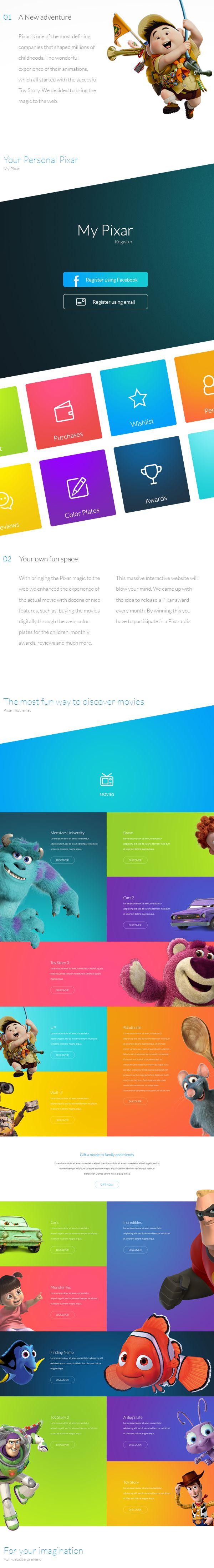 Pixar on Behance