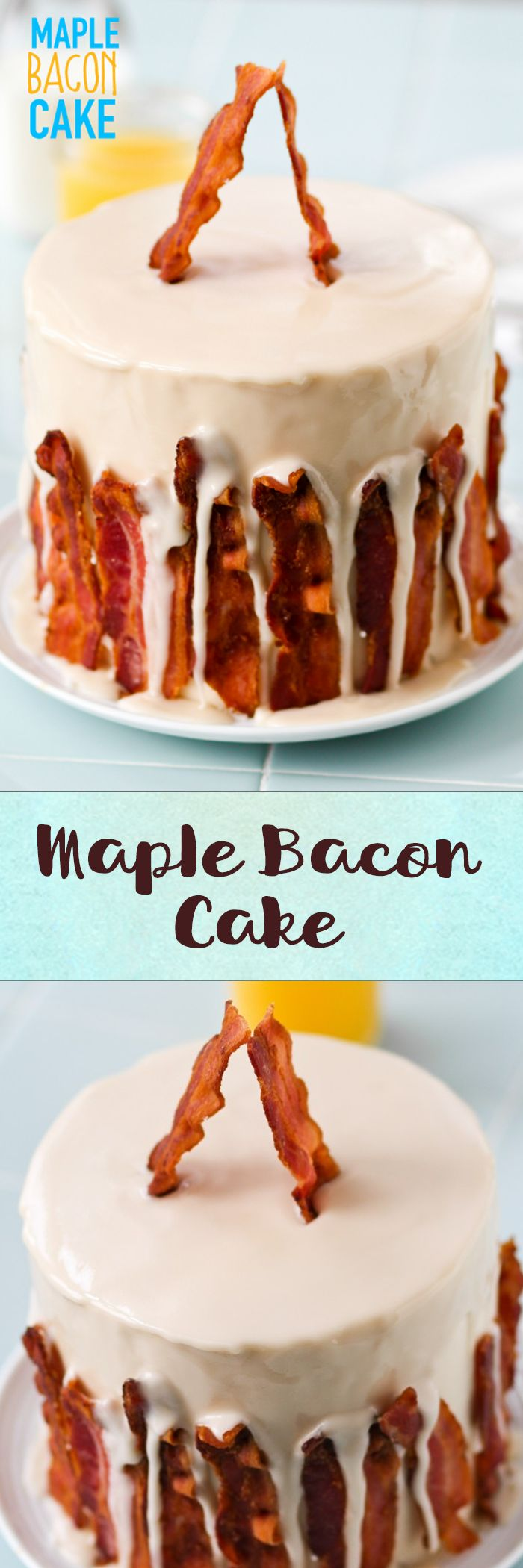 Maple Bacon Cake -- can I have this for breakfast? Love this flavor combo!