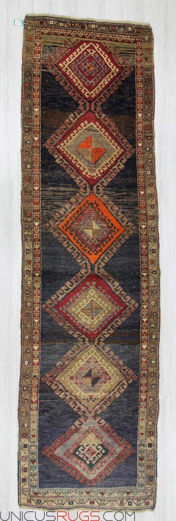 "Antique runner rug from Malatya region of Turkey. In very good condition. Approximately 80-90 years old Width: 4' 0"" - Length: 14' 1"" RUNNERS"
