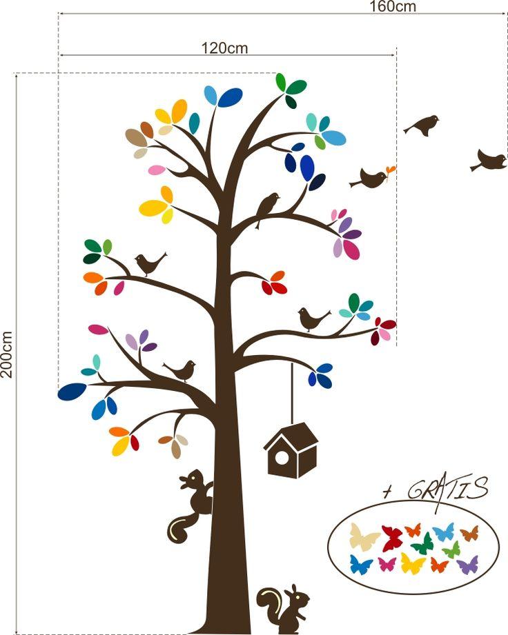 Bajkowe drzewo 1 :: Naklejkolandia