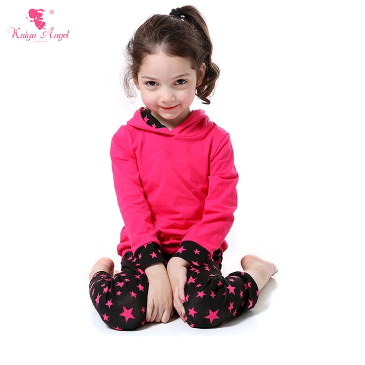 Find More Clothing Sets Information about Hood Children Girl Clothing Sets Hot Pink Coats Start Pants Suit Pocket Stars Cute Girls Clothes Kids Clothes Girls Fall Suit,High Quality girls clothing sets,China clothes girls Suppliers, Cheap children girls clothing from kaiya angel clothing factory on Aliexpress.com
