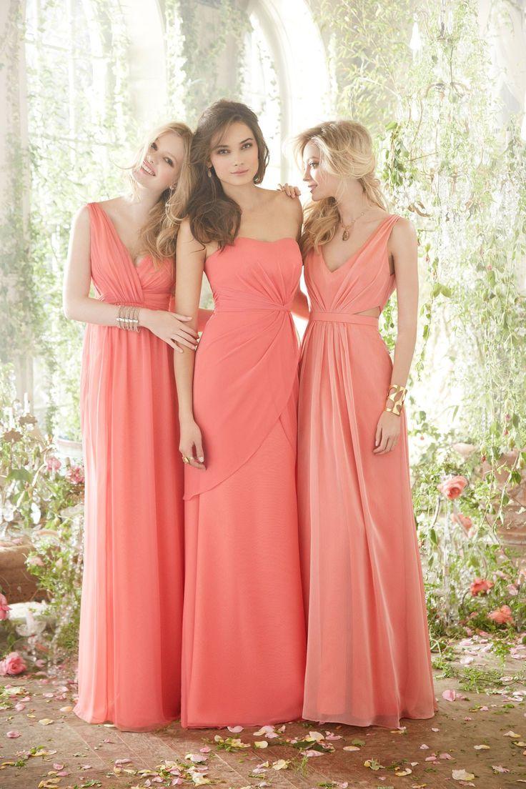 JLM - Jim Hjelm Occasions Spring 2014 coral bridesmaid dresses