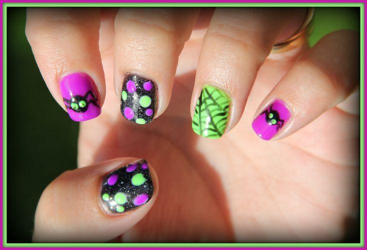 Cute Gelish Halloween nails
