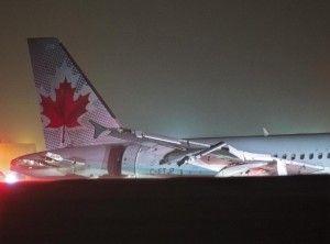 #AirCanada flight #AC624 skids off runway at #Halifax airport