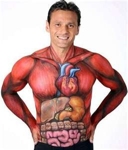 Painted Body Art for men. As i said it looks so real