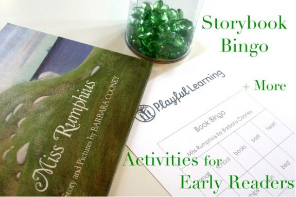 Storybook bingo & other fun activities to share with the young readers in our lives...