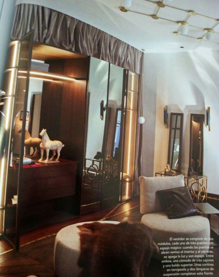 Casa decor 2016, Madrid, 51 edicion. #bed #nightstand #bedroom #closet #slidingdoors #leafdoors #interiordesign #design #modern #contemporary #madeinitaly #salonedelmobile #fieradelmobile #isaloni #fieramilano #luxury #glamour #artdeco #fimes #dresser #tvunit #sofa #mirror #silver #gold #leather #glossy #swarovski #fimeshomedesign #homedesign #clay #bookcase #walkingcloset #cornerbed #coplanar #leather #wood #upolsteredbed #casadecor #casadecormadrid