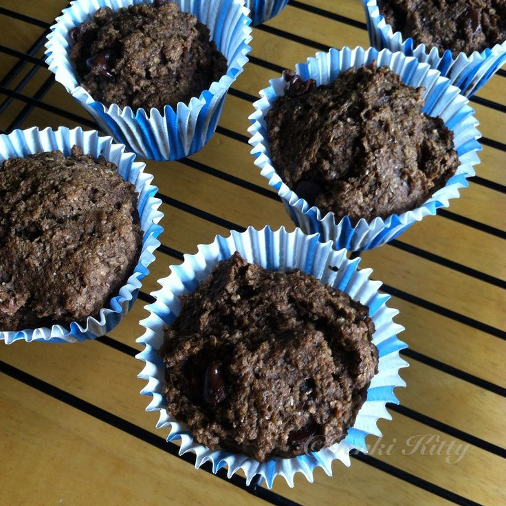 Vegan Whole Wheat Healthy Chocolate Chip Muffins Recipe