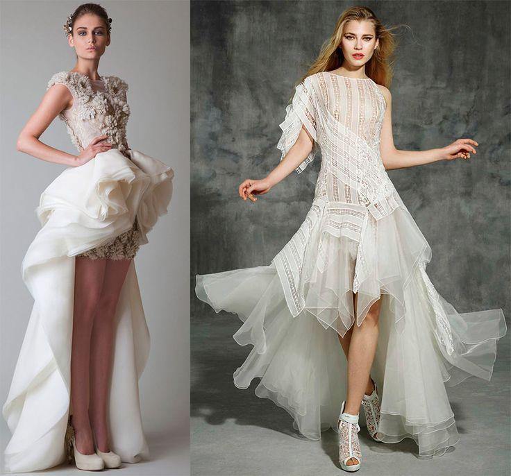 Асимметричные платья, юбки и другая одежда в моде много сезонов подряд, но далеко не всякая ассиметрия будет украшением для подвенечного платья. Свадебные платья маллет – наилучший вариант. Эти платья прекрасно соответствуют модным тенденциям и однов...
