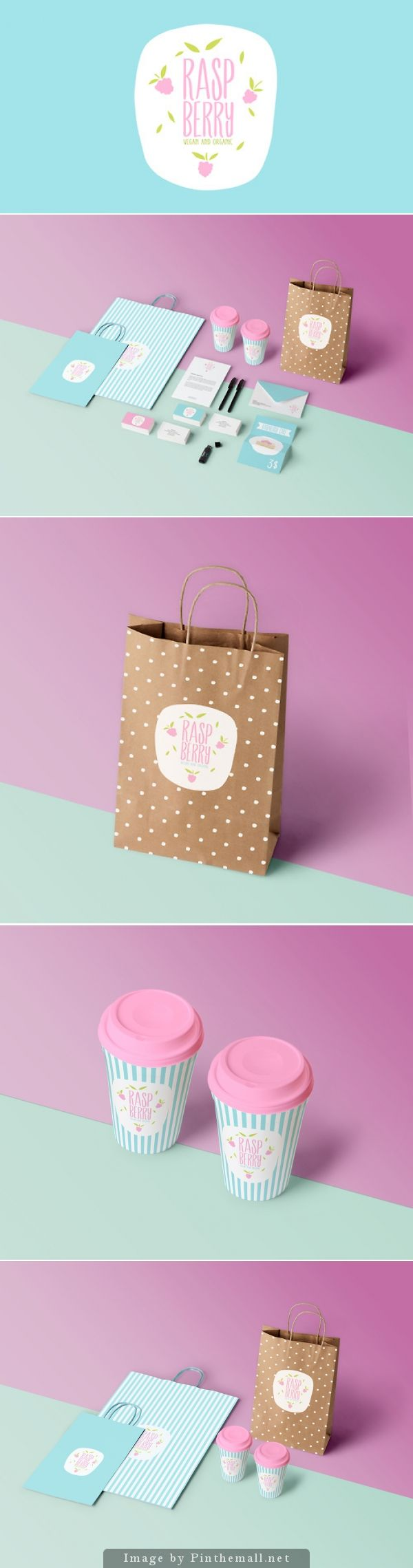 Raspberry - Vegan and Organic Confectionery by Anna Warda is simple yet appealing popular packaging design PD
