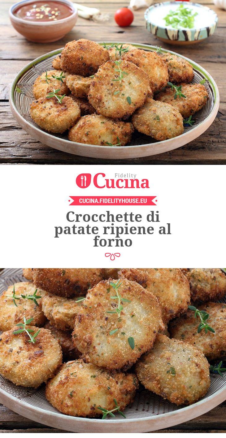 #Crocchette di #patate ripiene al forno