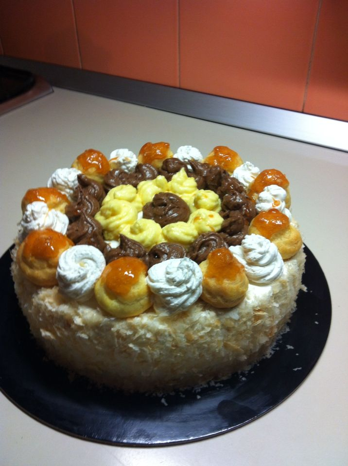 E dopo 6 ore...ecco la torta x il compleanno di mio marito!!!