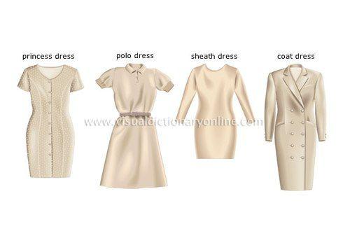 Từ trái qua phải, bạn sẽ thấy kiểu đầm ôm được gọi là Princess dress, hiện tại, cụm từ này không chỉ để nói những chiếc váy ôm eo như thế này mà còn dành cho các bộ đầm