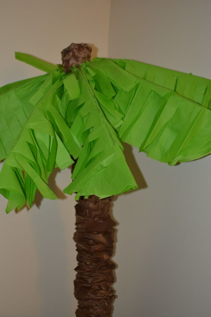 Make your own palm trees with pool noodles she bakes and for Palm tree decorations for the home