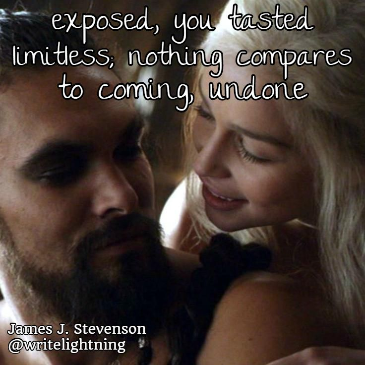 Game of Thrones haiku about Daenerys and Drogo. Poetry by James J. Stevenson.