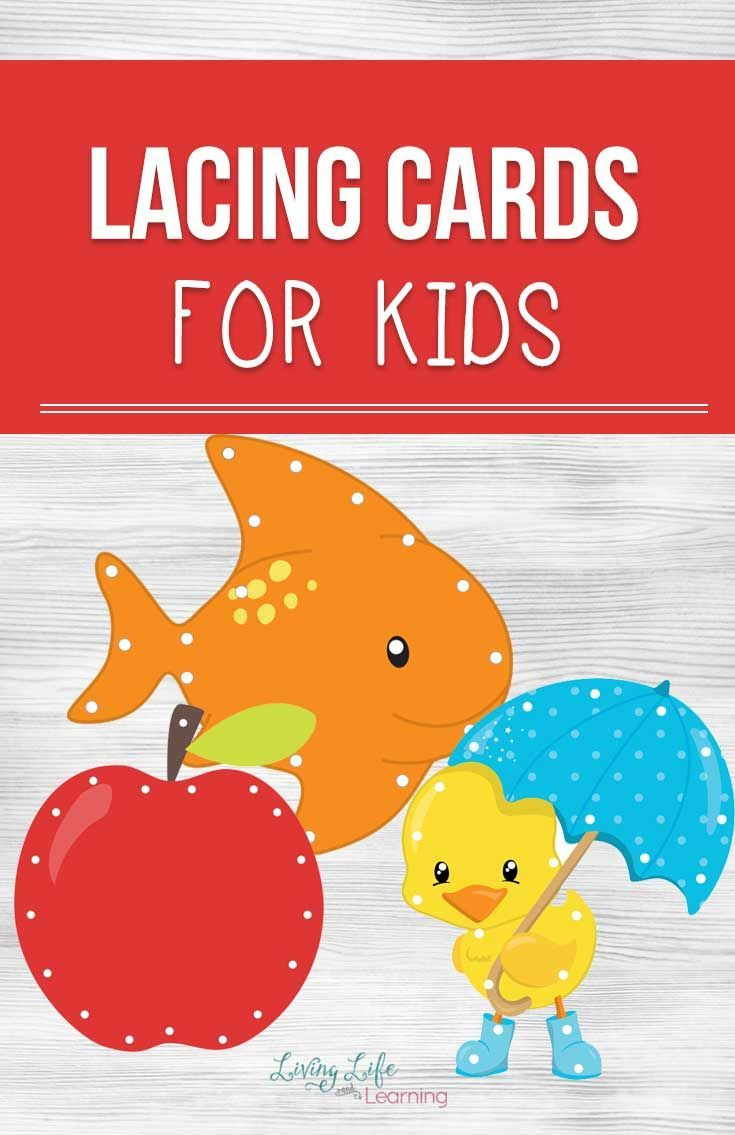 photo about Printable Lacing Cards referred to as Printable Lacing Playing cards for Small children Good engine abilities Lacing